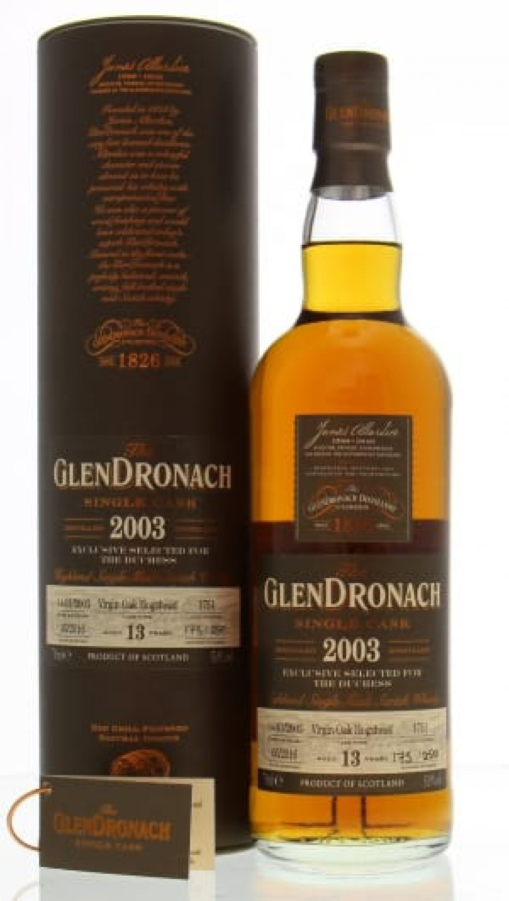 Glendronach Exclusively selected for the Duchess