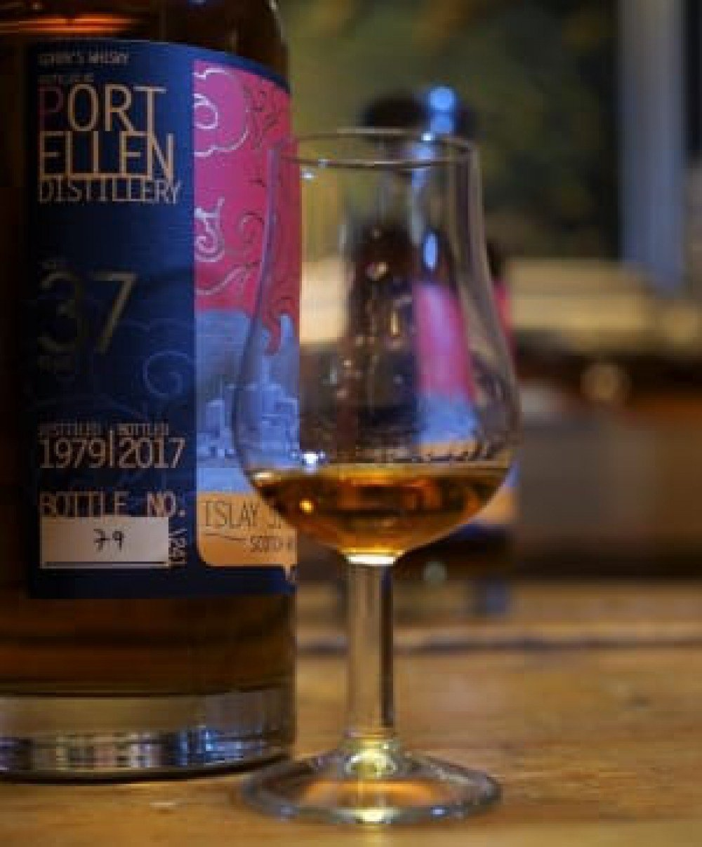 Tasting the Port Ellen 37 years Old Goren's whisky