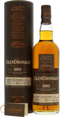 Glendronach - 13 Years Old Virgin Oak Cask 1751 Exclusively for The Duchess 53.9%  2003