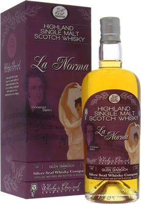 Glen Garioch - 25 Years Old Silver Seal Vincenzo Bellini La Norma 52.1% 1990