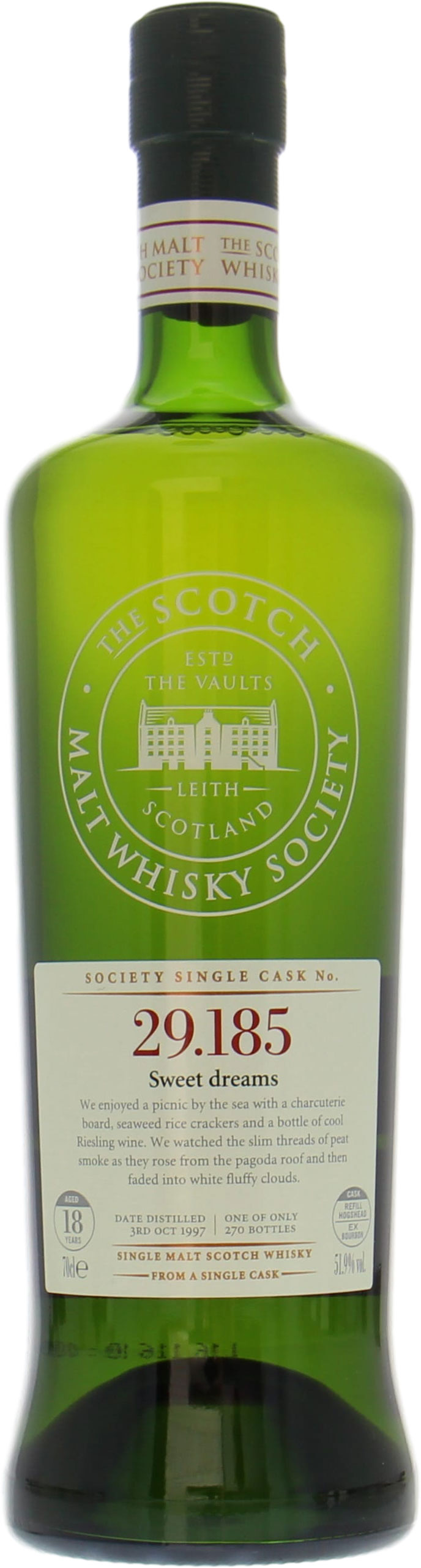 Laphroaig - 18 Years Old SMWS 29.185 Sweet dreams 51.9% 1997