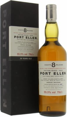 8th Annual Release 29 Years Old 55.3%Port Ellen -