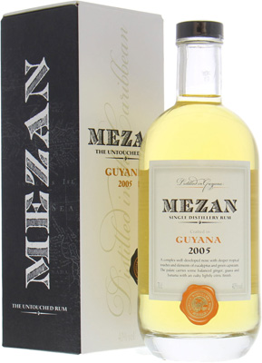 Guyana 2005 Single Distillery Rum 40%Mezan -