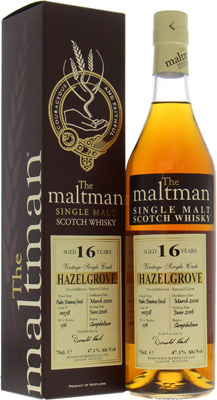 Hazelburn - 16 Years Old Hazelgrove The Maltman Cask 11078 47.1% 2000