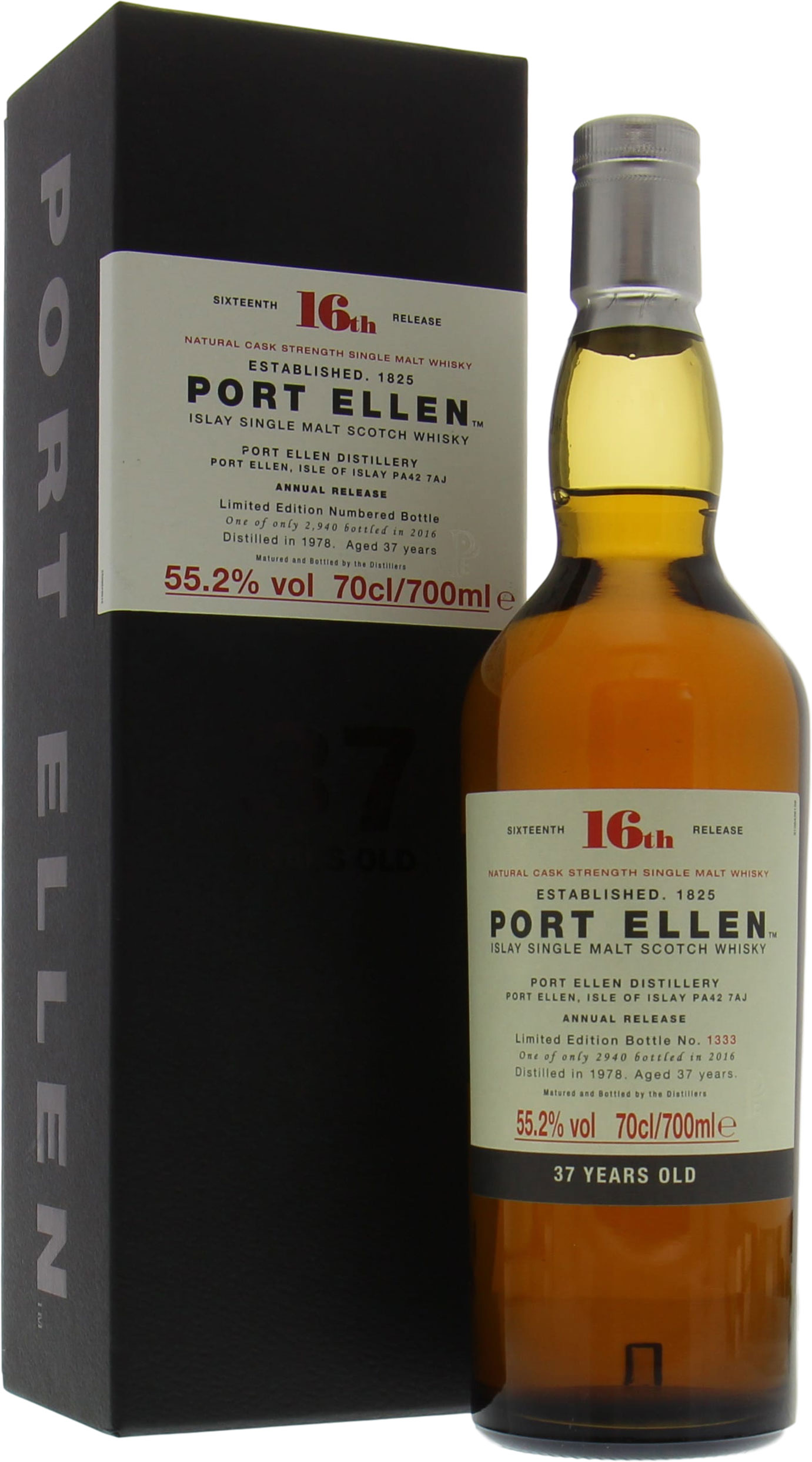 Port Ellen - 16th Annual Release 37 Years Old 55.2% NV