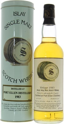Port Ellen - 14 Years Old Signatory Vintage Cask:266 + 690 43% 1983