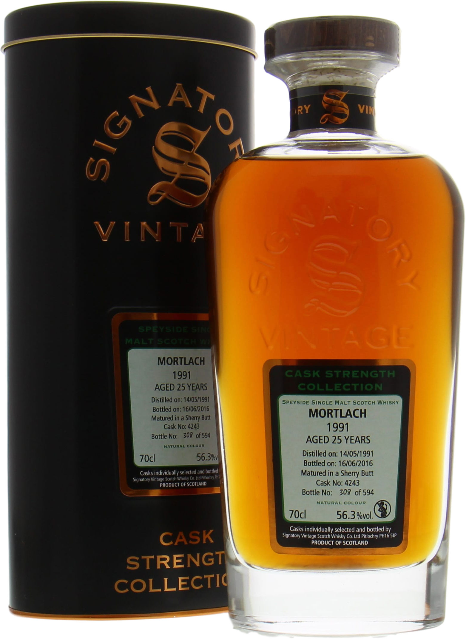Mortlach - 25 Years Old Signatory Vintage Cask 4243 56.3% 1991