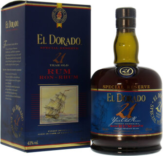 21 years old rum 43%