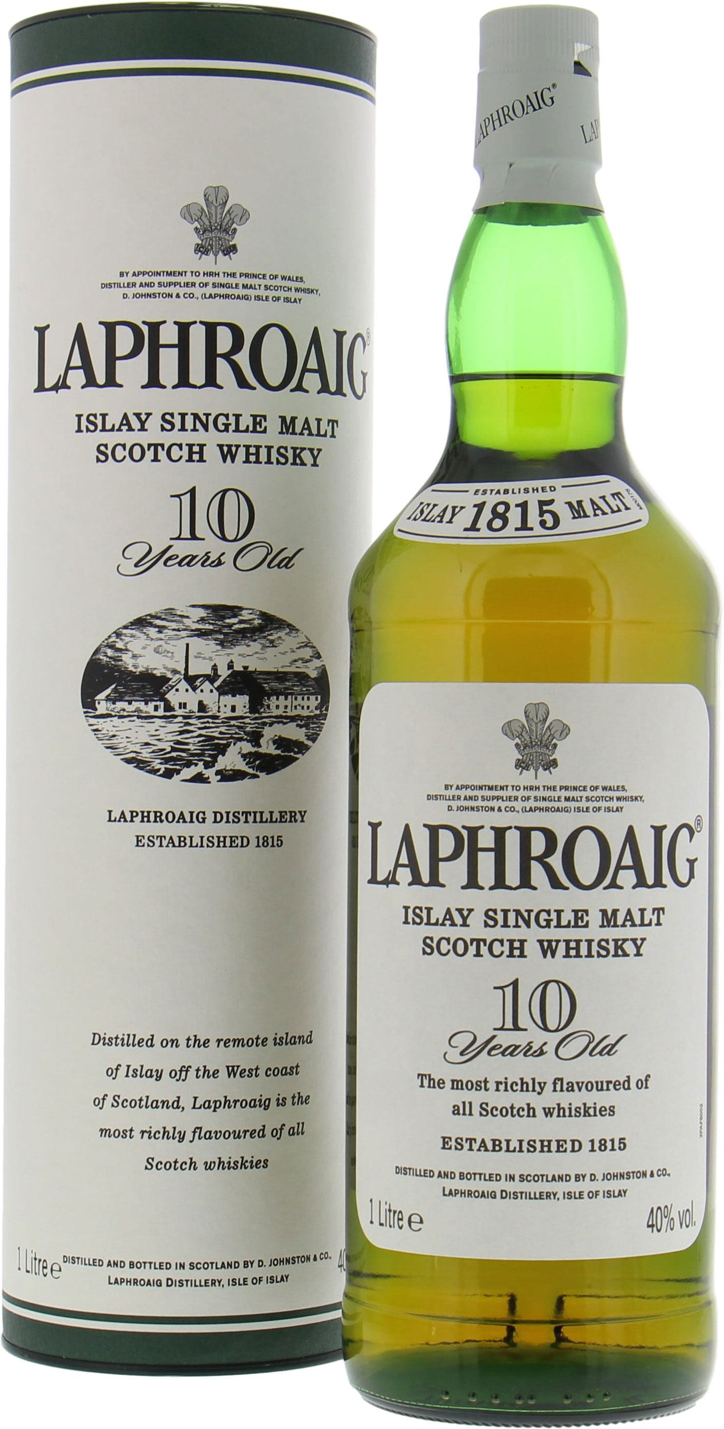 Laphroaig - 10 Years Old Feathered Crest Badge 43% NV
