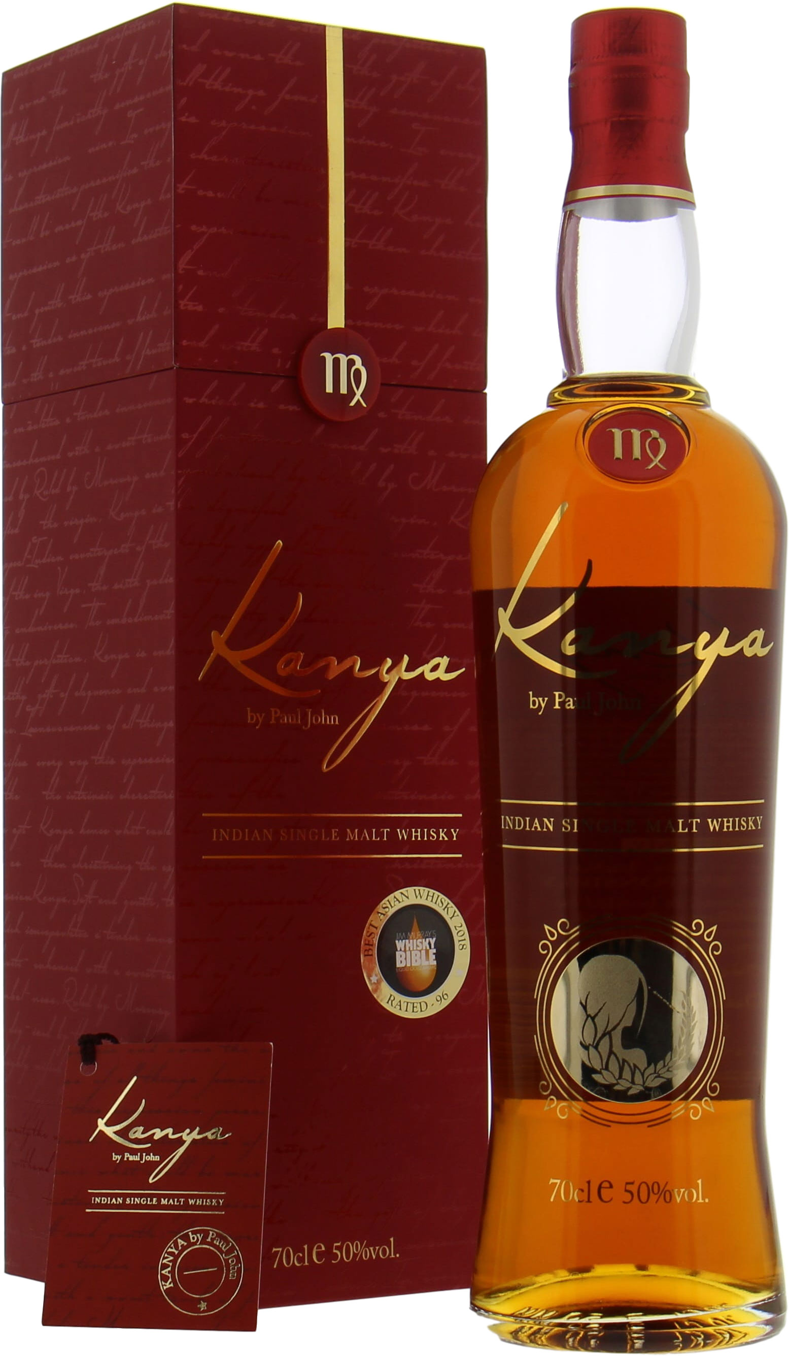 Paul John - Kanya Jim Murray's Best Asian Whisky 2018 50% NV