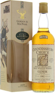 1982 Connoisseurs Choice Old Map Label 40%