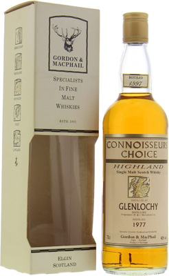 1977 Connoisseurs Choice Map Label 40%Glenlochy -