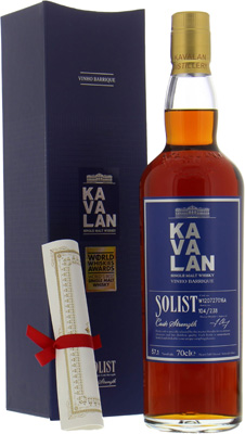 Kavalan - Solist Vinho Barrique Cask W120727016A World's best single malt whisky 2015 57,1% 2012