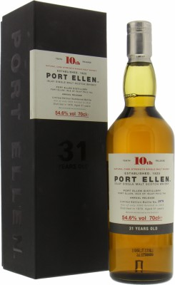 Port Ellen - 10th Release 31 Years Old 54.6% 1978