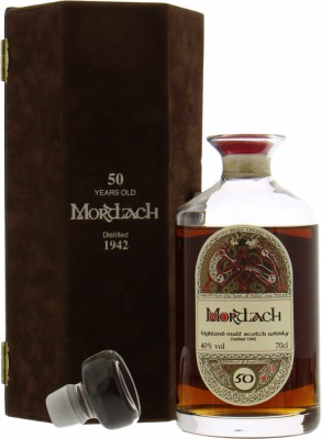 Mortlach - 1942 50 Years Old The Dram Taker's Book of Kells Decanter 40% 1942