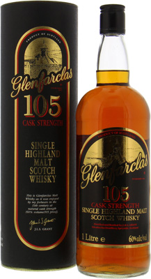 105 Cask Strength Backlabel 5 heads of the Grant generation 60%Glenfarclas -