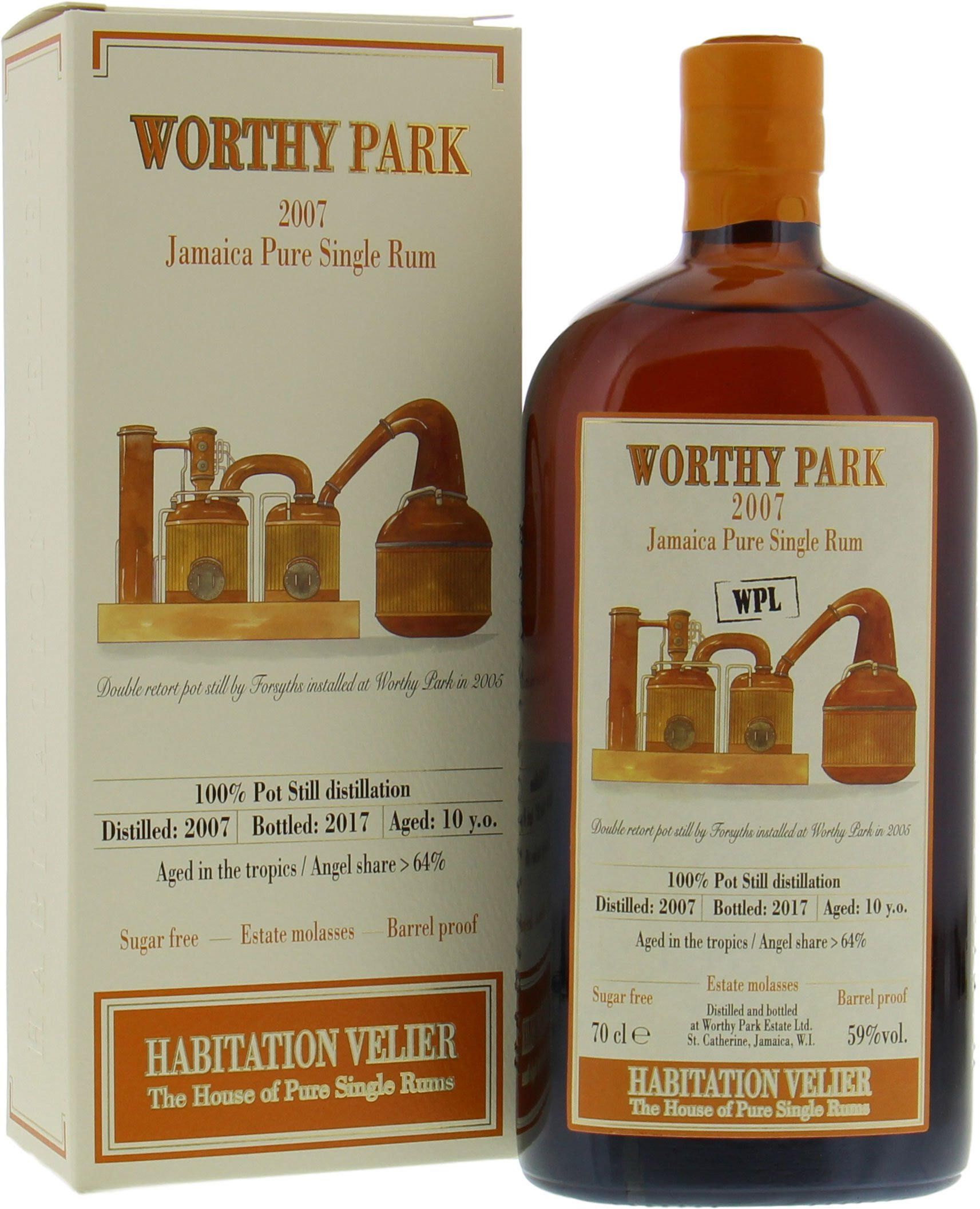 Worthy Park - 10 Years Old Habitation Velier 59% 2007