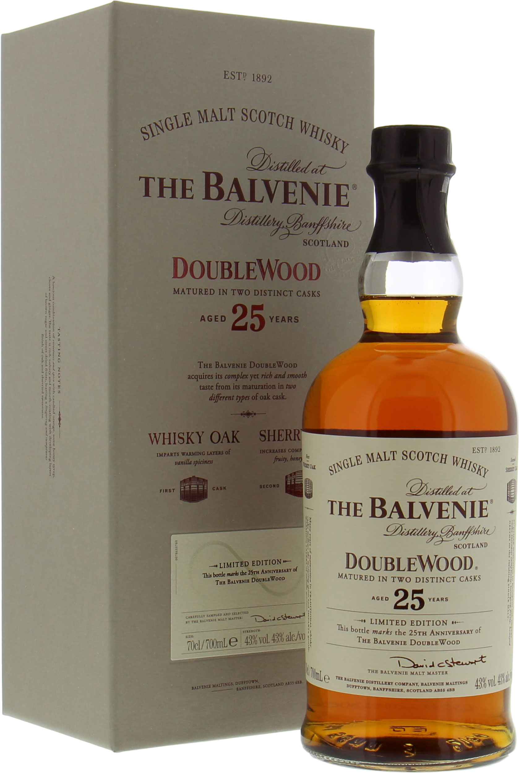 Balvenie - 25 Years Old DoubleWood 43% NV