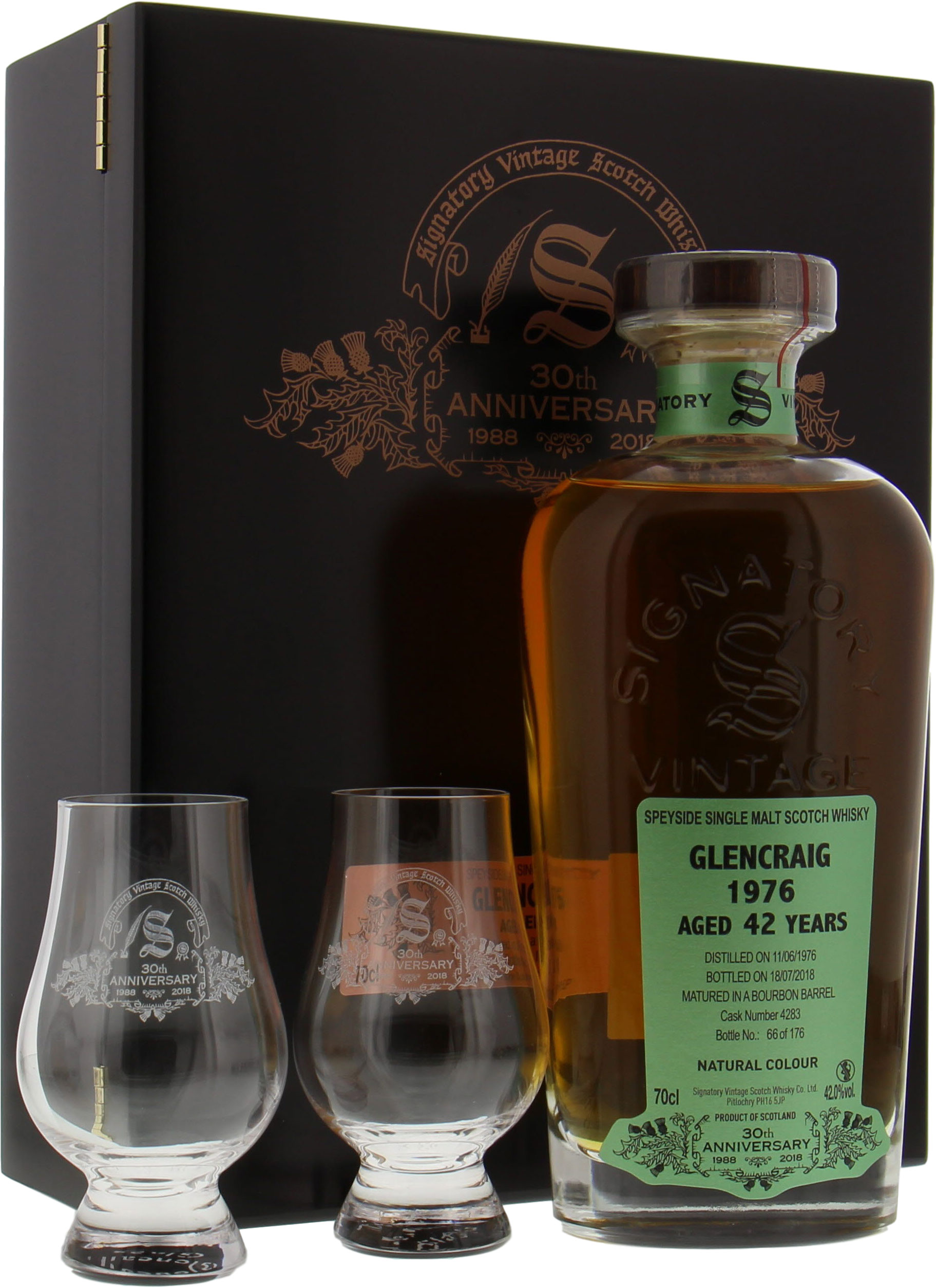 Glencraig - 42 Years Old Signatory 30th Anniversary Cask 4283 42% 1976