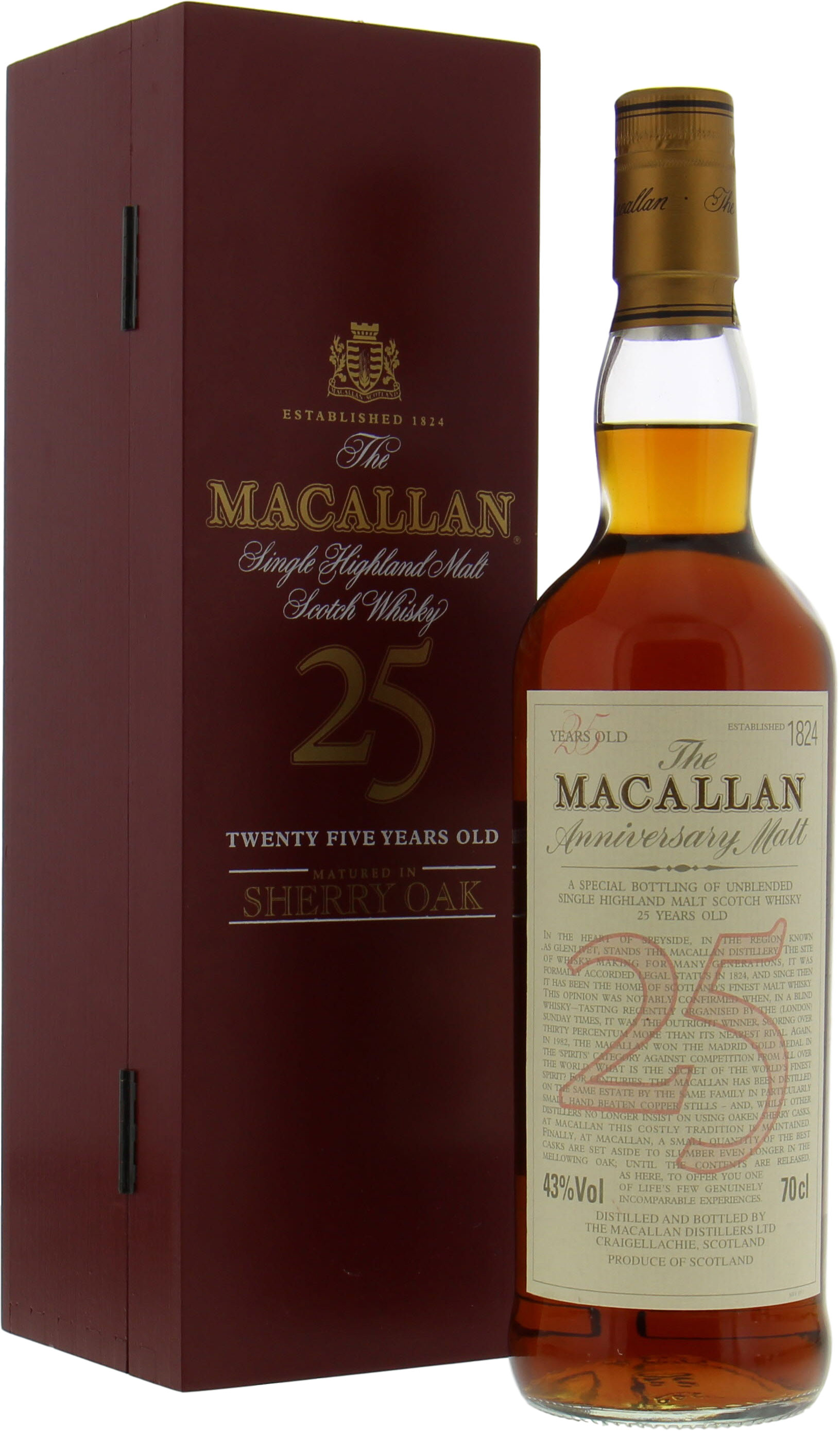 Macallan - 25 years old Anniversary Malt Red Box 43% NV