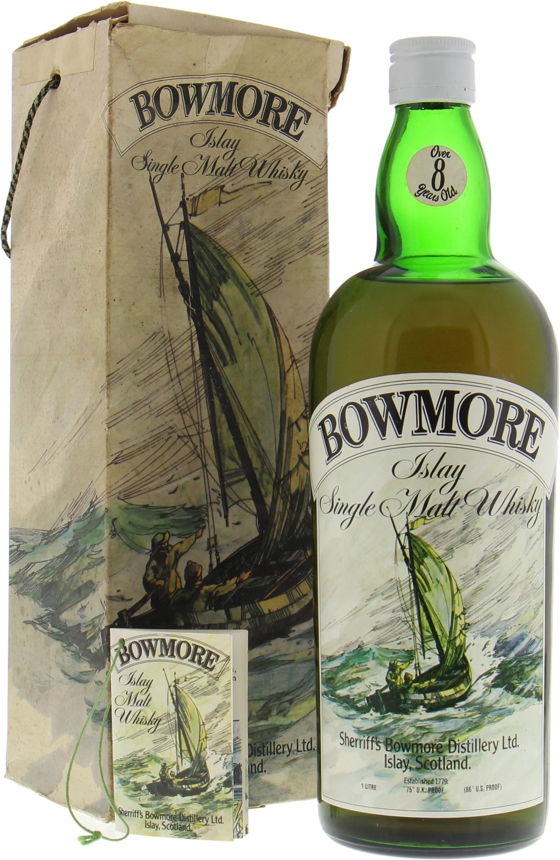 Bowmore - Sherriff's 8 Years Old 75 UK Proof 42.8% NV