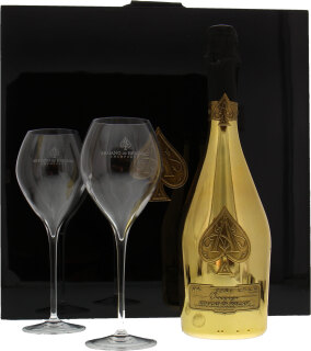 Gold Brut luxury coffret with 2 glasses