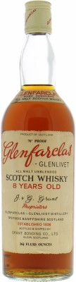 Glenfarclas - 8 years Old All Malt Unblended Scotch Whisky Vintage bottle 40% NV