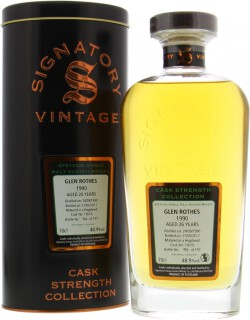 26 Years Old Signatory Cask Strength Collection Cask 19016 48.9%