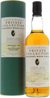 12 Years Old Gordon & MacPhail  Private Collection Cask 06/125 1-5 45%