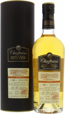 Strathisla - 10 Years Old Chieftain's Cask  492-494 43% 2008