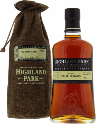 15 Years Old Single Cask 6145 for the Netherlands 57.3%Highland Park -