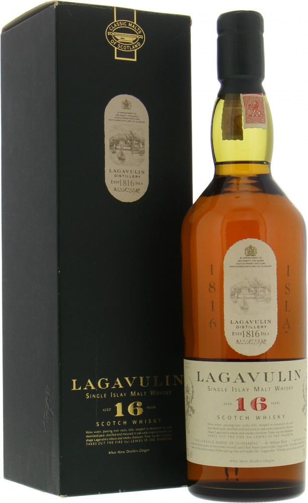 Lagavulin - 16 Years Old Rare White horse distillers 1816 ISLA painted in gold 43%