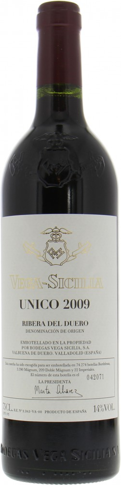 Unico 2009 Vega Sicilia Best Of Wines