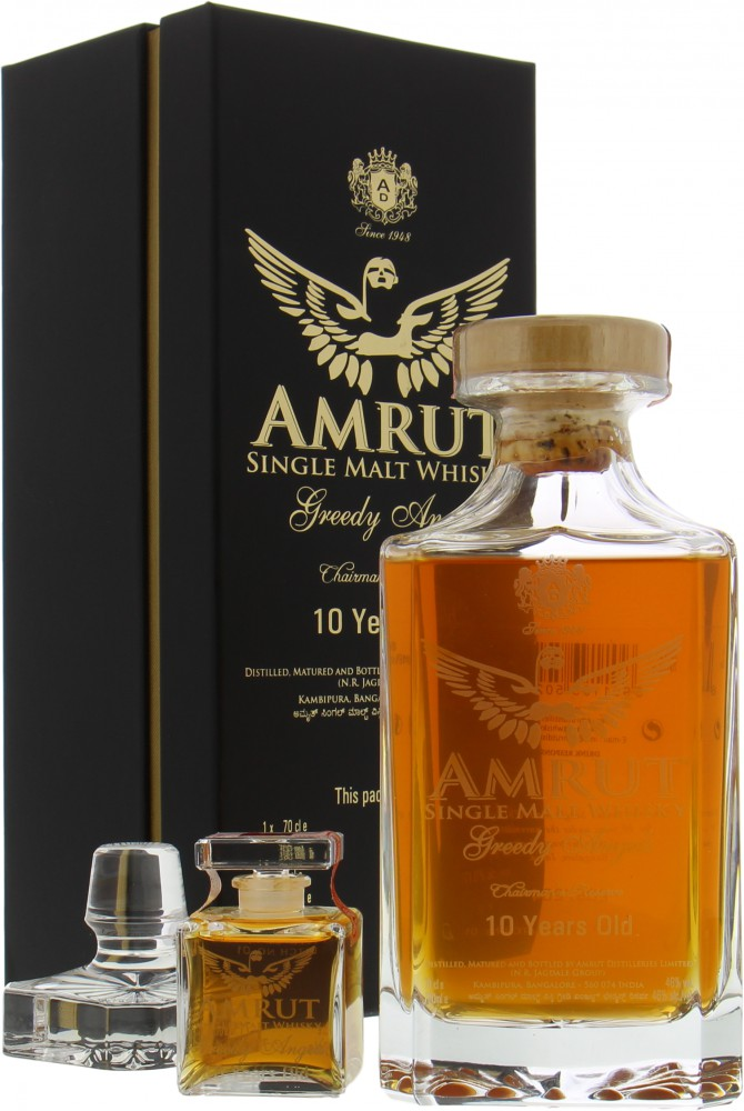 Amrut - 10 Years Old Greedy Angels Crystal decanter Batch 1 46%