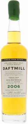 Daftmill - 12 Years old cask 044/2006 for Royal Mile Whiskies 56%
