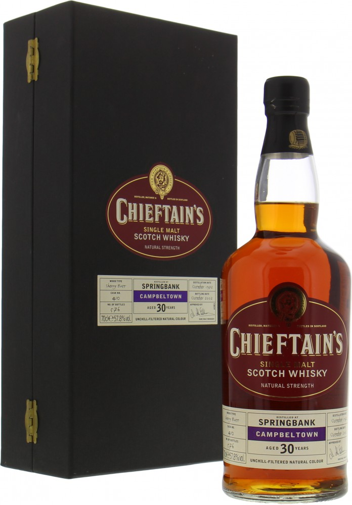 Springbank - 30 Years Old Chieftain's Choice Cask 410 57.8% 1972