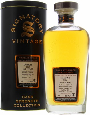 Dalmore - 19 Years Old Signatory Vintage Cask 9421 59% 1990