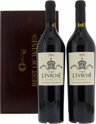 Wine gift - Gift set L'Eveche 2014 Double NV