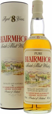 8 Years Old  Pure Scotch Malt Whisky 40%Blairmhor -