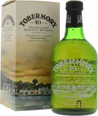 Tobermory - 10 Years Old Dumpy 2002 Glass print label 40% NV