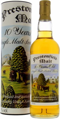 Prestonfield Malt 10 Years Old 43%Signatory Vintage -