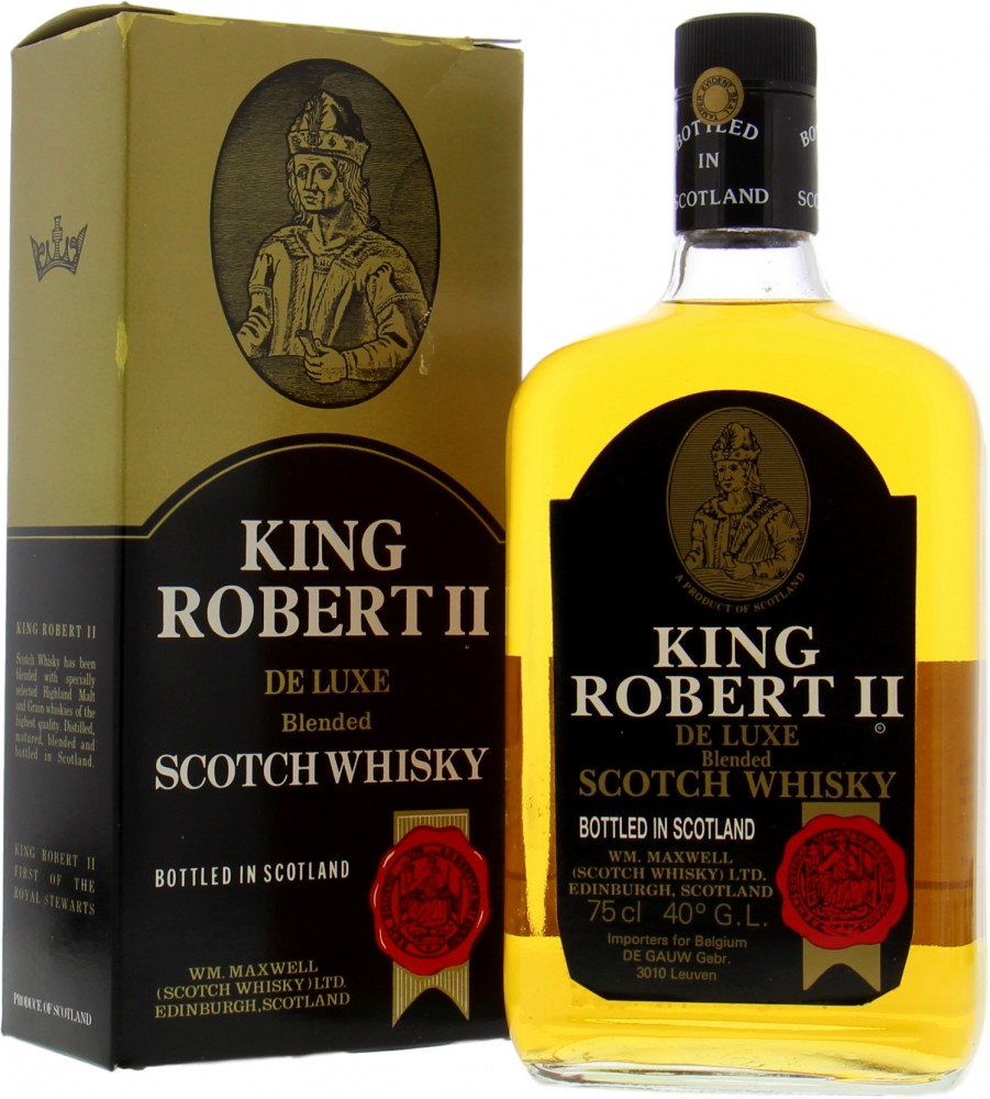 Wm. Maxwell Ltd - King Robert II Deluxe Blended Scotch Whisky 43% NV