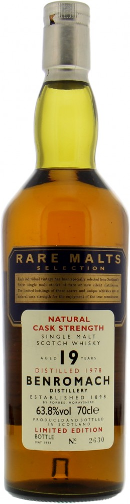 Benromach - 19 Years Old Rare Malts Selection NO BOX 63.8% 1978