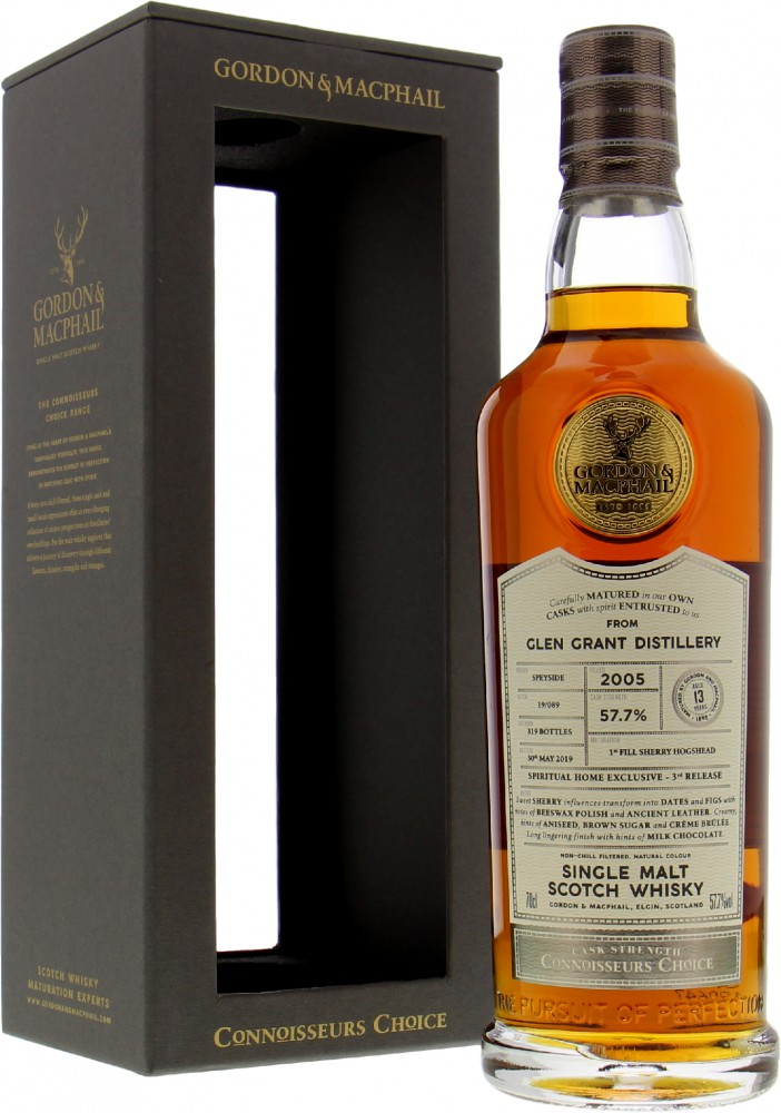 Glen Grant - G&M Spiritual Home Exclusive Connoisseurs Choice Batch 19/089 57.7% 2005