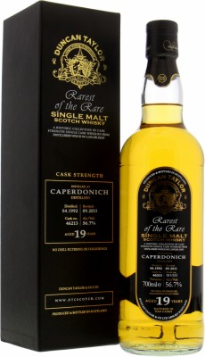 Caperdonich - 19 Years Old  Duncan Taylor Rarest of the Rare Cask 46213 56.7% 1992