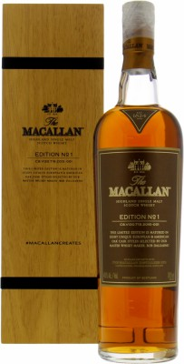 Edition No.1 In Wooden Box 48%Macallan -