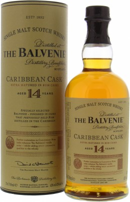Balvenie - 14 Years Old Caribbean Cask 43% NV