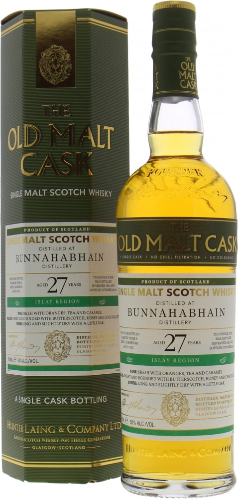 Bunnahabhain - 27 Years The Old Malt Cask HL17325 50% 1991