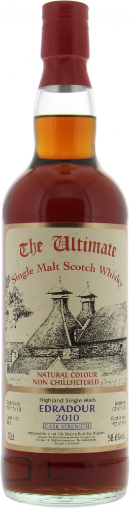 Edradour - 9 Years Old The Ultimate Cask Strength Cask 393 58.6% 2010