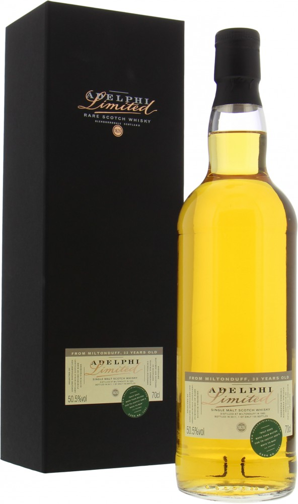 Miltonduff - 33 Years Old Limited Adelphi Cask 7451 50.5% 1983
